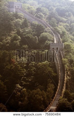 Watch Tower From The Great Wall Of China.