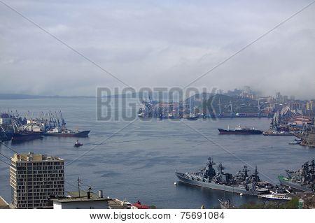 Golden Horn Bay in Vladivostok