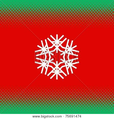 Abstract Seamless Christmas Festive Background.