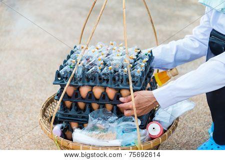 Grilled Egg On Basket