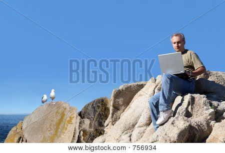 Man Working Outdoor