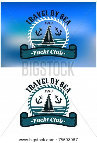 Yacht Club emblem or badge