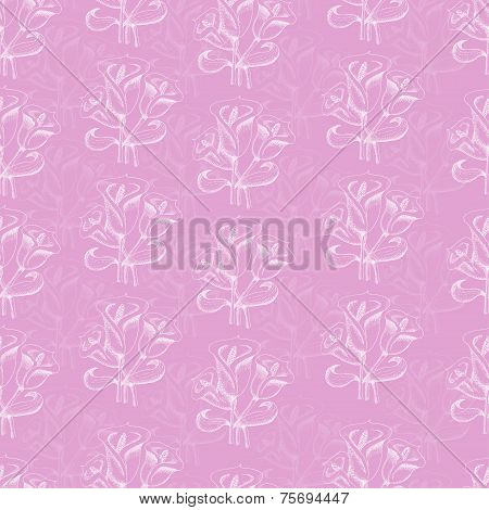 Seamless Pattern With Callas