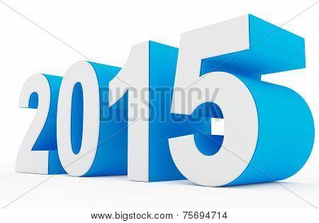 Year 2015 White-blue