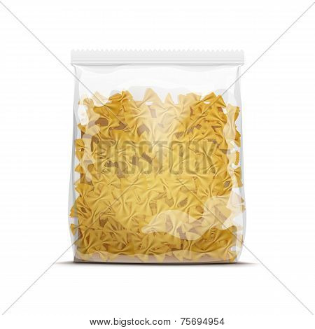 Farfalle Bow Tie Pasta Packaging Template Isolated