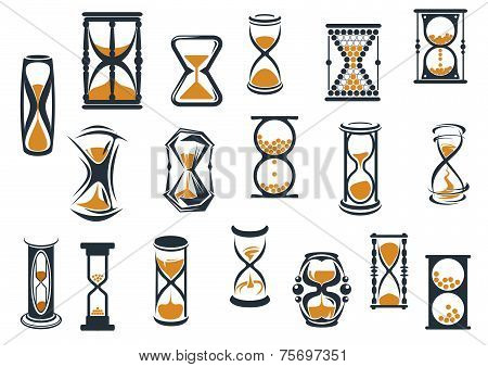 Hourglasses and egg timers set