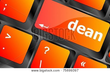 Dean Word On Computer Pc Keyboard Key