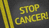 image of colitis  - Stop Cancer written on the road - JPG