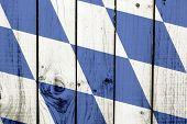 stock photo of bavaria  - Bavaria flag on wooden background  - JPG