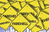 image of long distance relationship  - Farewell written on multiple road sign  - JPG