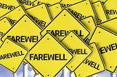 pic of bon voyage  - Farewell written on multiple road sign  - JPG
