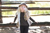 picture of country girl  - Fashionable teen girl blonde - JPG