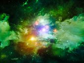 stock photo of hallucinations  - Colors in Space series - JPG