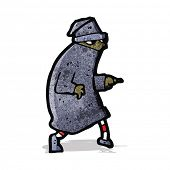 stock photo of sneak  - cartoon sneaking thief - JPG