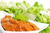 image of endive  - escarole endive with romesco sauce - JPG