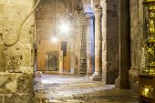 pic of church interior  - Jerusalem Israel - November 02 . 2014 : interior Church of the Holy Sepulchre in Jerusalem Israel. The Church of the Holy Sepulchre is considered the holiest Christian site in the world.