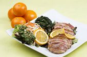 pic of duck breast  - Roast Duck Breast with Orange sauce and Vegetable - JPG