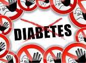 foto of diabetes symptoms  - illustration of no diabetes abstract concept background - JPG
