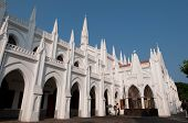 foto of santhome  - santhome bascillica on a bright sunny day - JPG