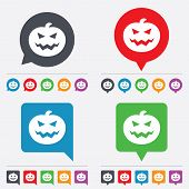 Постер, плакат: Halloween pumpkin sign icon Halloween party