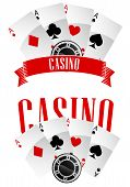 Постер, плакат: Casino signs or emblems