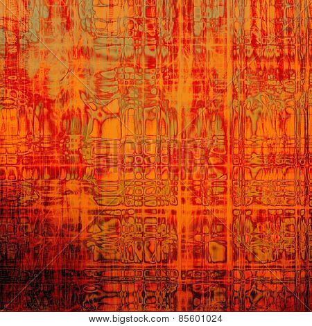 Grunge texture, distressed background. With different color patterns: yellow (beige); brown; red (orange)