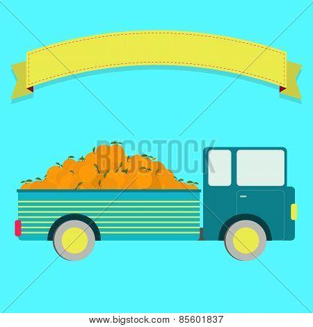 Truck With Orange Harvest