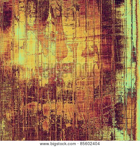 Old grunge template. With different color patterns: yellow (beige); brown; purple (violet); cyan