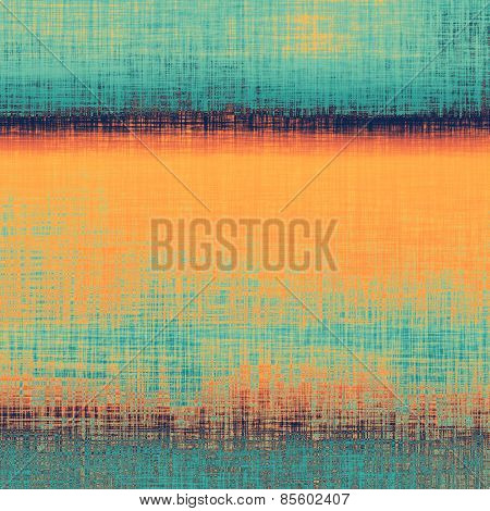 Vintage textured background. With different color patterns: yellow (beige); blue; cyan