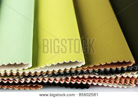 Scraps of colored tissue close up