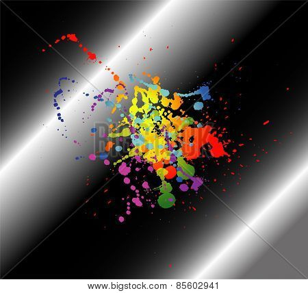 Abstract artistic black Background of colorful