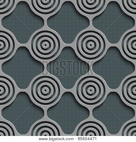 Seamless Grid Pattern. Abstract Gray Background. Vector Regular Texture