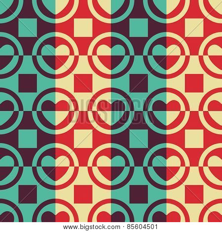 Seamless Heart Pattern. Vector Regular Texture