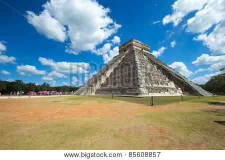 Kukulkan Pyramid in Chichen Itza Site, Mexico