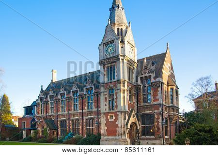 CAMBRIDGE, UK - JANUARY 18, 2015: Pembroke college, university of Cambridge.