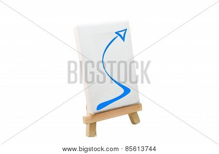 Artist Easel With Arrow Illustration