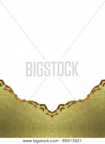 Template Gold Ornaments On Background. Design Template