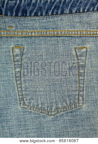 Jeans Pocket Seam Inside Texture
