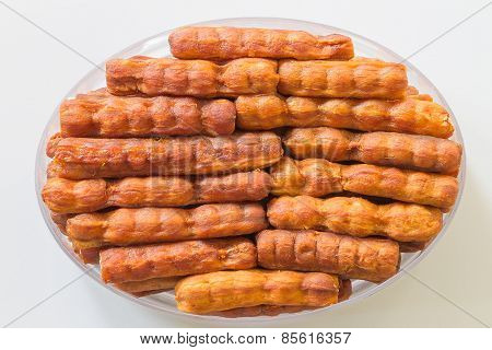 Seedless Sweet Tamarind on white background