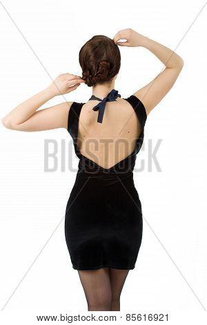 Young Dashion Woman Back View