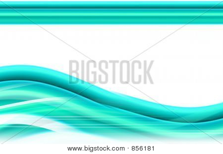 abstract wave design - green, black and white