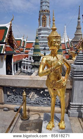 Mythical Apsonsi Creature At Wat Phra Kaeo Grand Palace Bangkok