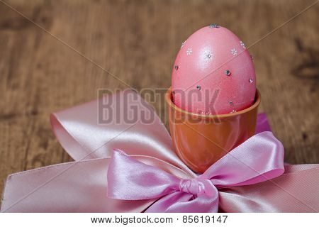 Colorful Easter Eggs In Egg Cup