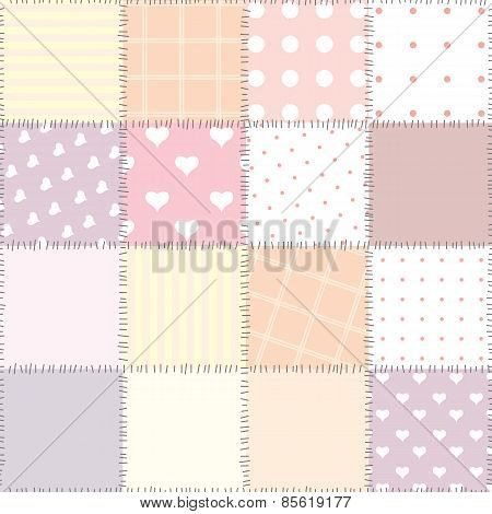 Pink patchwork