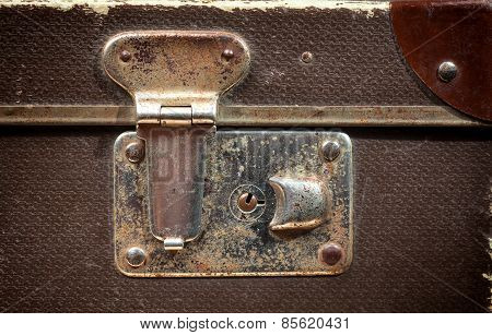 Detail Of Old Vintage Suitcase