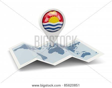 Round Pin With Flag Of Kiribati