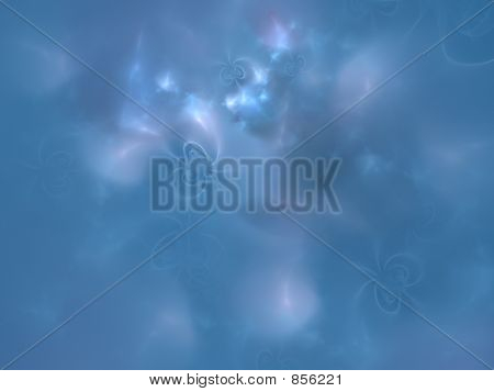 under a blue sky