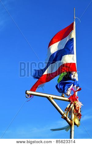 Waving Flag  Asia  Kho  In Thailand And South China  Sea