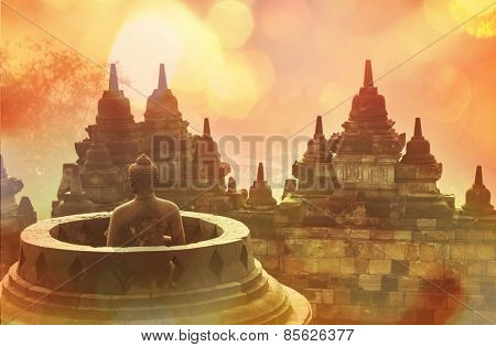 Borobudur Temple,Java, Indonesia.