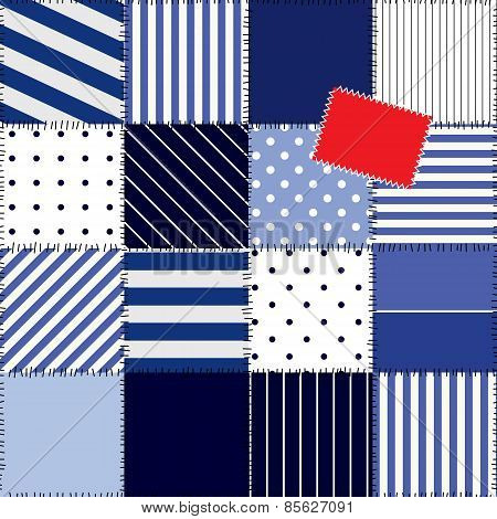 patchwork pattern in nautical style